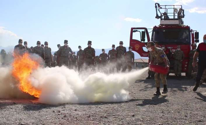 59. Topçu Eğitim Tugay Komutanlığında tatbikat
