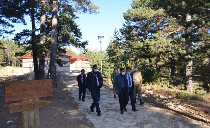 İzciler, Dumanlı Tabiat Parkında 1 gece kamp yaptı