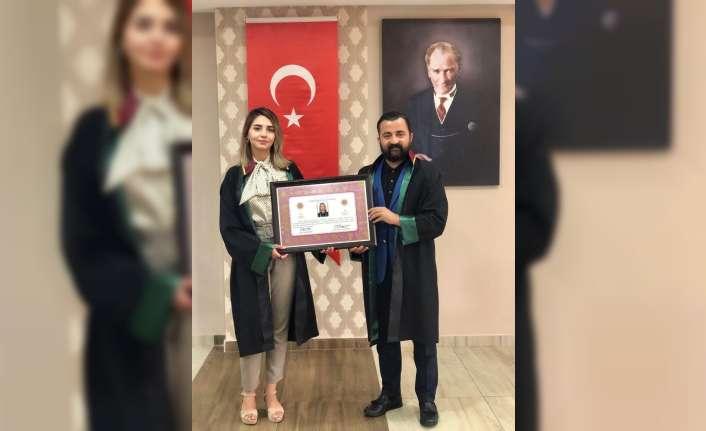 Ruhsatnameleri Baro Başkanı Adem Aktürk tarafından takdim edildi