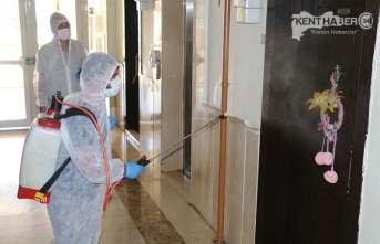 Taksim TOKİ Yönetimi Hijyen ve Dezenfekte Çalışmaları Başlattı