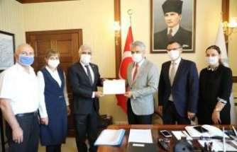 DATÜB heyetinden Vali Mehmet Makas'a ziyaret
