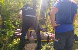 Yaralı vatandaş askeri helikopter ile kurtarıldı