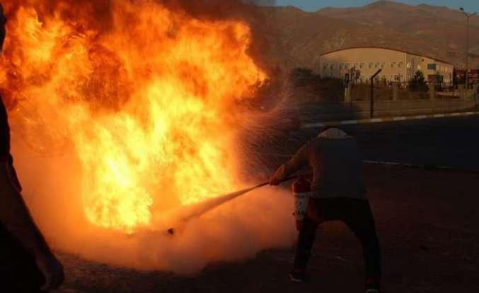 İtfaiyeden yangın eğitimi