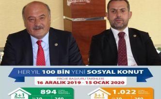 Erzincan'a 305 Konut