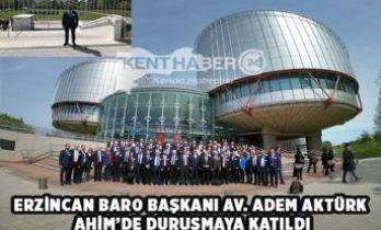 AHİM'de Erzincan'ı Temsil Etti