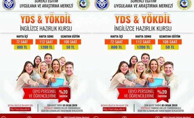 EBYÜ' den Yds/Yökdil İngilizce Hazırlık Kursu