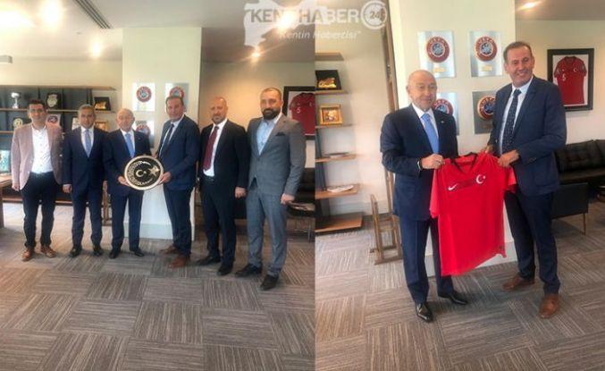 ANAGOLD 24 Erzincan Spordan TFF Başkanı Özdemir'e Ziyaret