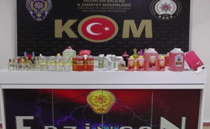 Erzincan'da Sahte Dezenfekte Malzemeleri Ele Geçirildi